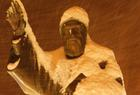 تمثال مار شربل statue St Charbel Shady Eid under snow sous Neige
