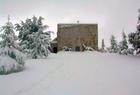 محبسة مار شربل في الثلج Ermitage St Charbel snow تصوير شادي بشارة