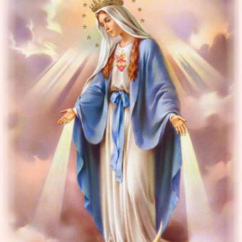 الأم الملكة مريم العذراء