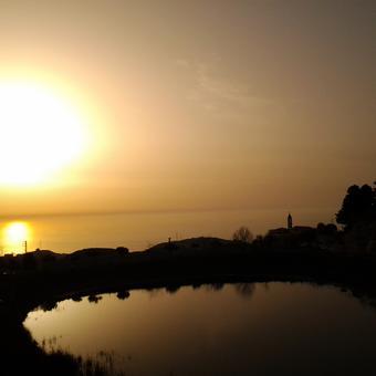 غروب الشمس مار شربل عنايا Photo by Hanna Khoury sunset at Annaya Lebanon sea