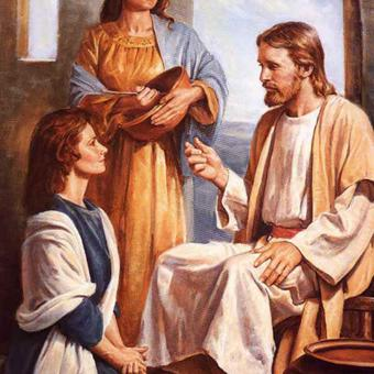 Mary listening to Jesus